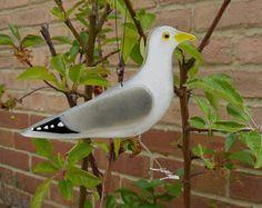 Fused glass seagull - bird lover gift - sea birds - british birds - nature lover gift - garden ornament - british wildlife - seaside art