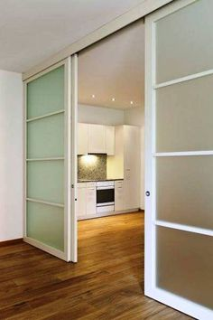Stylish ideas of sliding Doors - CareDecor Loft Design, Sliding Doors, Home, Sliding Room Doors, Apartment Design, Sliding Door Room Dividers, Room Divider Doors, House Interior, Doors Interior
