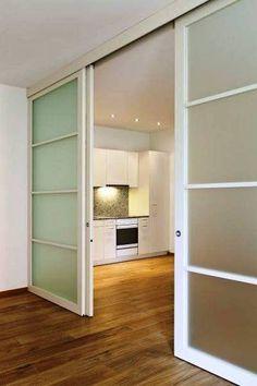 Stylish ideas of sliding Doors - CareDecor Living Room Sliding Doors, Sliding Door Room Dividers, Room Divider Doors, Interior Design Career, Interior House Colors, Interior Design Living Room, Loft Design, Küchen Design, Color Combinations Home