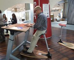 Focal Standing Desk. *I actually designed an office for a client with one of these!*