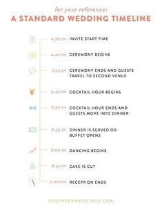 Wedding Timeline Day Before And Day Of Example  Wedding Ideas