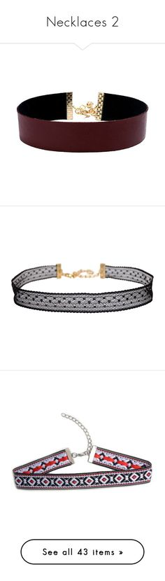 """""""Necklaces 2"""" by emmeleialouca ❤ liked on Polyvore featuring jewelry, necklaces, choker, filler, accessories, red, burgundy necklace, red necklace, stretch choker and long choker necklace"""