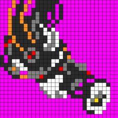 GLaDOS Portal bead pattern