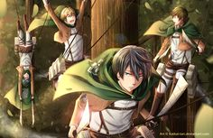 Attack on Free! ~~ Yes, I can see Rei doing that, but where are Rin, Aiichiro, and Seijuro? :: [ Shingeki no FREE! by Katkat-Tan.deviantart.com on @deviantART ]