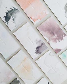 Watercolour and blind impression letterpress business cards - satsuki shibuya stationery design inspiration Graphisches Design, Print Design, Logo Design, Design Cars, Design Ideas, Designers Gráficos, Bussiness Card, Design Graphique, Graphic Design Branding