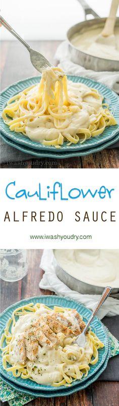 Quick and Easy Creamy Cauliflower. Healthier pasta sauce recipe.