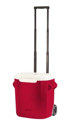 Pin it! :) Follow us :)) CLICK IMAGE TWICE for Pricing and Info :) SEE A LARGER SELECTION of camping coolers at   -  hunting, camping accessories, camping insulated bags, coolers, camping gear, camp supplies - Coleman 28-Qt Wheeled Cooler, Red « zCamping.com