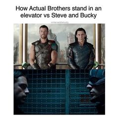 Vs Steve and Bucky who look like they might leap forward and start making out with each other at any moment