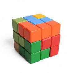 Puzzel kubus, hout
