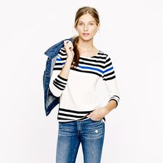 Sailor tee in engineered stripe - knits & tees - Women's new arrivals - J.Crew