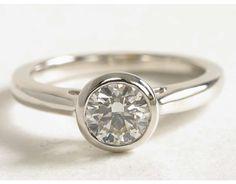 1 Carat Diamond Bezel Set Solitaire Engagement Ring | Blue Nile Engagement and Wedding Rings