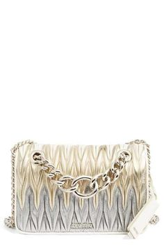 98efeae3c291 Miu Miu Club Matelassé Leather Shoulder Bag Metallic Gold Dress