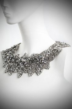 Beautiful Bridal Necklace. This would look fabulous with a little black dress after the big day!
