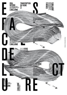 My Name is Wendy creates beautiful posters celebrating French poet Stéphane Mallarmé Graphic Design Trends, Graphic Design Posters, Graphic Design Typography, Graphic Design Illustration, Graphic Design Inspiration, Style Inspiration, Book Posters, Type Posters, Typographic Poster