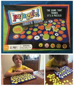 Pajaggle Board Game is a puzzle and a game. Perfect for competitive families as well. It's recommended for ages 8+, but my 5 year old enjoys this as well. He doesn't play the competitive games, but he simply uses it as a puzzle.