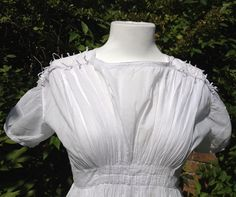 c1823 cotton afternoon gown. Bodice detail. Books of the whole Sylvestra Regency Fashion collection available! http://www.blurb.co.uk/search/site_search?search=sylvestra+regency