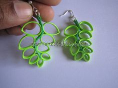 Handmade Jewelry - Paper Quilling Fern Earrings (Free Form Quilling) (2)