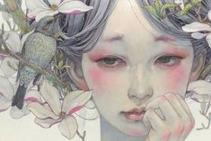 Ethereal Japanese Oil Paintings of Women Enraptured by Nature Japanese artist Miho Hirano composes stunning delicate oil paintings with an enchanting sensibility, which is connected to nature. Art And Illustration, Brush Strokes Painting, Art Brush, Art Asiatique, Art Japonais, Nature Paintings, Oil Paintings, Indian Paintings, Painting Art