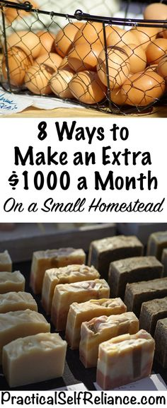8 Ways to Make an Extra $1000 a Month on a Small Homestead