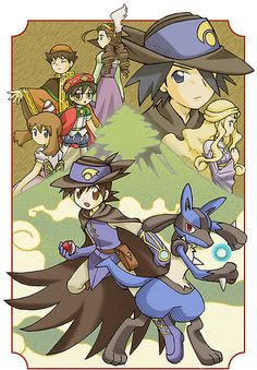 Pokemon with lucario!