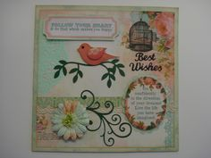 More fun with my favourite Stampin up bird punch.