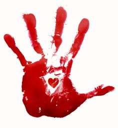 bloody red hand