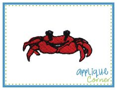 Crab Filled Mini Embroidery Design