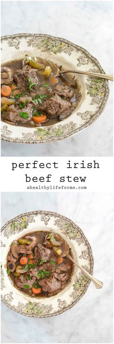 Irish Beef Stew Healthy, Clean Recipe that is perfect for St. Patrick's Day or any day| ahealthylifeforme.com