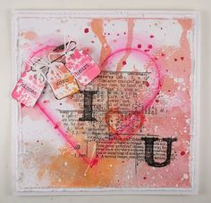 Mixed Media Hearts by Suzz for the Simon Says Stamp Monday challenge (H is For)
