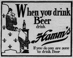 Hamm's Beer Ad from Oct 20, 1900 Saint Paul Globe | The Streets of Saint Paul