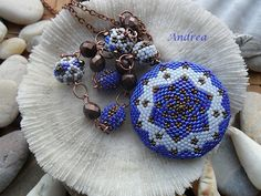 necklace.beautiful blue...love the shapes