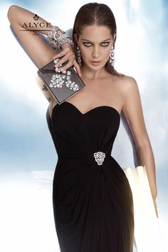 Wondrous wrapped strapless gown from BDazzle by Alyce Paris