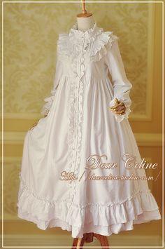 Dear Celine Cotton Long Nightgown OP