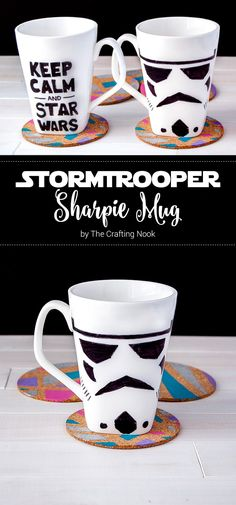 Are you a coffee or tea lover? Want to have a cup specially for you? Here you have a cute and so simple idea!!! Stormtrooper Sharpie Mug Tutorial!!!