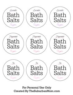 How To Make Lavender Bath Salts + Printable Gift Tag ...