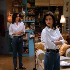 Rachel Green might have been more beloved, but we firmly believe that Monica Geller (Courteney Cox) was the best dressed character on 'Friends. Rachel Green Outfits, Style Rachel Green, Rachel From Friends Outfits, Look 80s, Look Retro, Look Vintage, Friends Mode, Friends Tv, Monica Friends