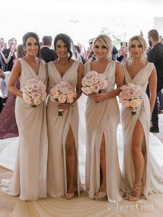 2e4c9f7ce8cc Simple Sheath Cheap Long Bridesmaid Dresses with Slit ARD2081-SheerGirl  Moss Green Wedding, Wedding