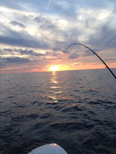 Beautiful night out on Lake Erie fishing for Walleyes