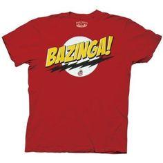 Big Bang Theory Bazinga! Men's T-Shirt, Red, XX-Large