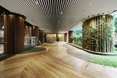 Green Office Lobby by 4N design architects, Hong Kong » Retail Design Blog