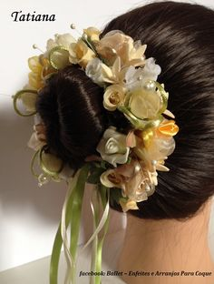 Visite nossas páginas no facebook: 1ºATO/Ballet - Enfeites e Arranjos para Coque e  Bela Menina - Coroas para Bailarina