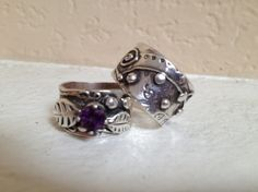 Silver Art Cay rings