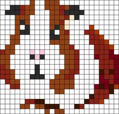 I'M IN LOVE WITH THIS! Guinea Pig Perler Bead Pattern Perler Bead Pattern / Bead Sprite