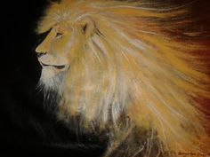 This painting was initially done with a palette knife, after which the final details was added with a brush, just to bring out the face of the animal somewhat. Upon completion, it kinda looked to me like a ghostly creature, with the winds of the Plains of Africa, rushing through it's mane. And the Phantom Lion was born!