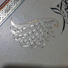 Tezhip#illumination#sazyolu#melek#kanat#angel#qoran#kadirsuresi#ıslamicart#gold#altın#ottoman#art#sanat#design#tasarım#artwork#love#ayet#desen#iğneperdahı#zencerek#