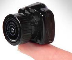 World's Smallest Camera measures only 1 inch tall and wide. $59.95