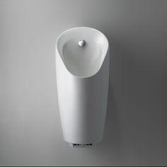 Het Geberit Preda urinoir is slank gevormd. Qua spoeltechniek kan gekozen worden tussen: met een (manueel bedieninde of infrarood gestuurde) urinoir bedieningsplaat, verborgen sturing in het keramiek of waterloos.