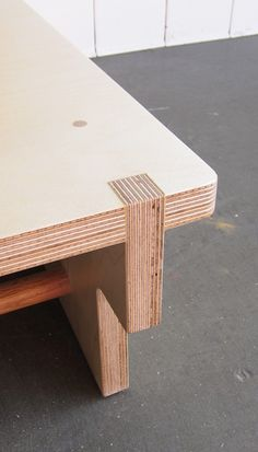 Ply/LVL table checked connection with dowel pin