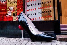 Discover the playful Minna Parikka shoes, including the famous bunny sneakers! Lets Dance, Vivid Colors, Stiletto Heels, Pumps, Store, Leather, Choux Pastry, Pump Shoes, Business