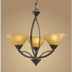 Westmore Lighting Elysburg 3-Light Aged Bronze Chandelier